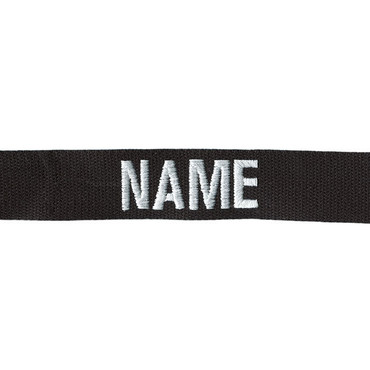 Sew On Black Name Tape from Kel-Lac
