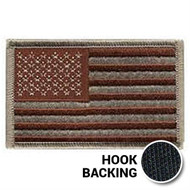Desert American flag patch with hook backing