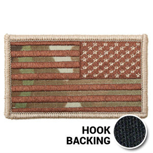 Reversed American flag patch in OCP Multicam with hook backing 01444ad4f