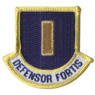 Defensor Fortis Flash patch with 2nd Lt rank for Security Forces beret