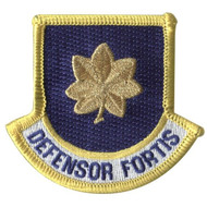 Defensor Fortis Flash Patch with Major rank for Security Forces beret