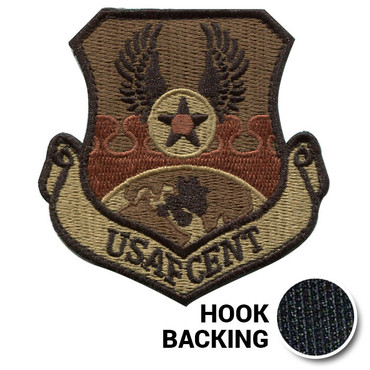 USAF Central Command patch in OCP Multicam with hook backing