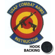 Embroidered Combat Arms Instructor Morale Patch with hook backing