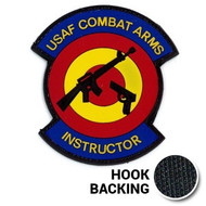 PVC Combat Arms Instructor Patch with hook backing
