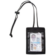 Front of Black Vertical ID Holder