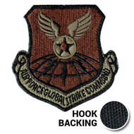 USAF Global Strike Command patch in Multicam with hook backing