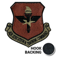 Embroidered multicam OCP AETC patch with hook backing