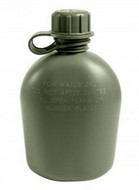 1 Quart Plastic Canteen in Olive Drab
