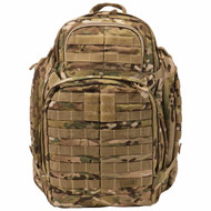 Front view of 5.11 RUSH 72 Backpack in Multicam