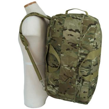 Mercury Tactical Gear Multicam Kit Bag worn as backpack