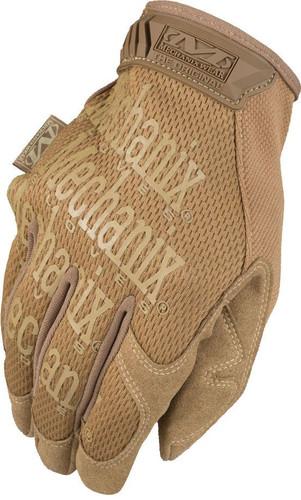 Back of Mechanix Original Tactical Gloves in Coyote