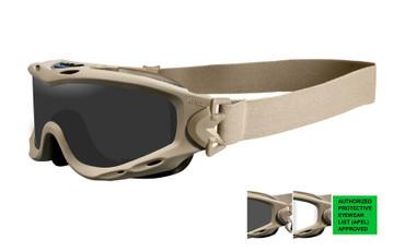 Wiley X Spear APEL Goggle - Grey/Clear Lens & Tan Frame