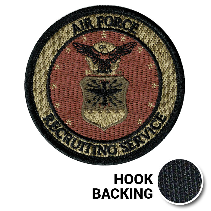 76ea96f909d9e Air Force Recruiting Service Patch, Embroidered - OCP (w/ Hook Back)