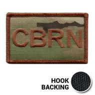 USAF Spice Brown Multicam CBRN Duty Identifier Tab Patch