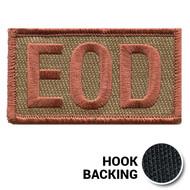 Embroidered Duty Identifier Tab - EOD - OCP (w/ Hook Back)