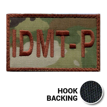USAF Spice Brown Multicam OCP IDMT-P Duty Identifier Tab Patch