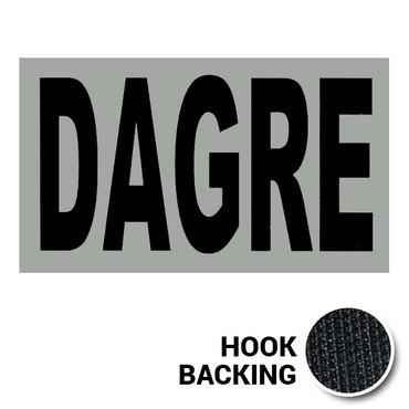 DAGRE IR Duty Identifier Tab Patch with hook backing
