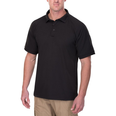 Vertx Mens Coldblack Short Sleeve Polo in Black