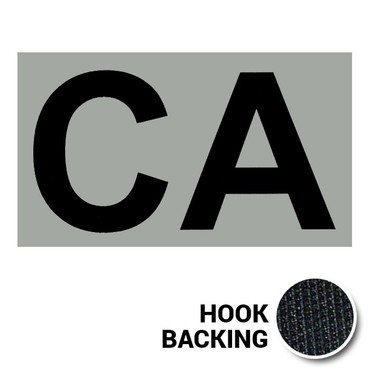 CA IR Duty Identifier Tab Patch with hook backing