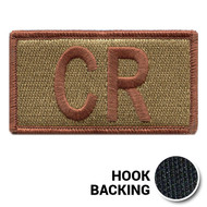 Embroidered Duty Identifier Tab - CR - OCP (w/ Hook Back)