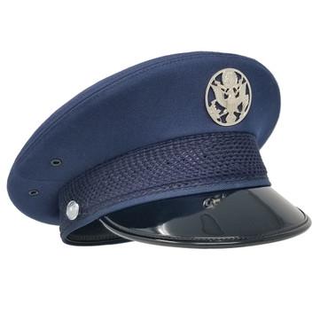 USAF Raven Service Cap, high gloss brim