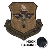 Embroidered OCP AETC patch with hook backing