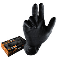Disposable Glove, Grippaz Black Nitrile Disposable 6 mil Glove - Box of 50