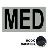 MED IR Duty Identifier Tab Patch with hook backing