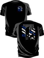 KEL-LAC® K-9 T-Shirt - Thin Blue Line
