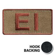 Embroidered Duty Identifier Tab - EI - OCP (w/ Hook Back)
