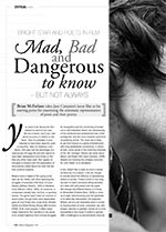 <i>Bright Star</i> and Poets in Film: Mad, Bad and Dangerous to Know ?But Not Always
