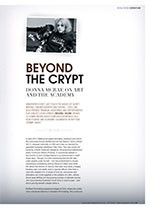 Beyond the Crypt: Donna McRae on Art and the Academy