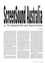 ScreenSound Australia or the National Film and Sound Archive