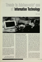 Trends in Adolescents' Use of Information Technology