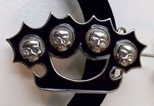 Brass Knuckles with 4 Skulls