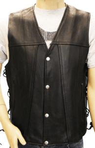 Men's Cowhide Leather Gambler Vest
