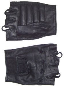 MEN'S FINGERLESS TECHNALINE LEATHER GLOVES WITH PADDED PALM