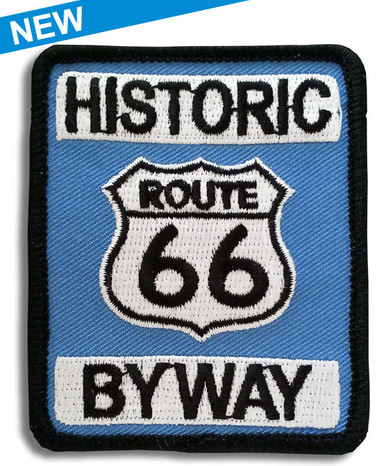 Route 66 nostalgic highway sign patch, ideal to show your route 66 and motorcycle pride.