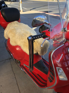Motorcycle Seat SheepSkins Cover.  Better Than Gel or Blowups.