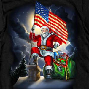Patriotic Santa American Flag T-Shirt
