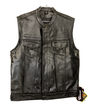 Premium ultra soft naked leather club vest