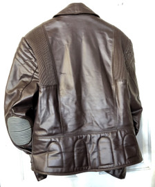 Bristol Leather Montreal, Canada Aviator jacket with padded elbows and lumbar support back