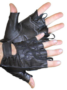 Fingerless Glove W/Pull Tabs For Easy Removal