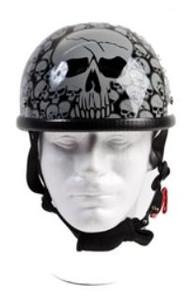 Gray Boneyard Eagle Novelty Helmet with Skulls