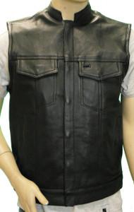 Men's Naked Leather Patch Holder Vest