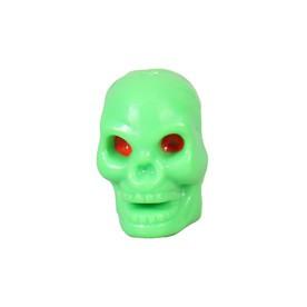 Green Skull License Plate Frame Bolts 2 Pack