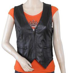 Elastic Side Zipper Vest