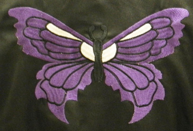 Women's Textile Jacket with PURPLE butterfly