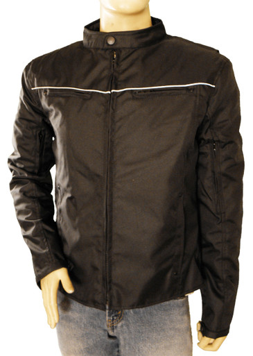 Men's Textile Jacket W/ Reflective Piping