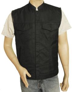 Textile Patch Holder Vest w/Euro Collar